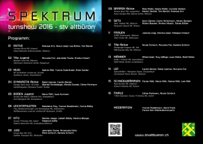 Programm Spektrum A5 final neu
